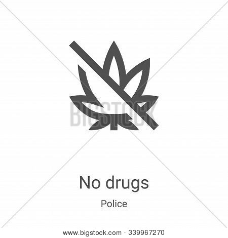 no drugs icon isolated on white background from police collection. no drugs icon trendy and modern n