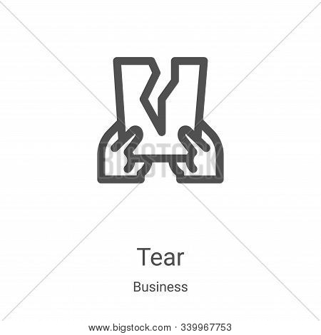 tear icon isolated on white background from business collection. tear icon trendy and modern tear sy