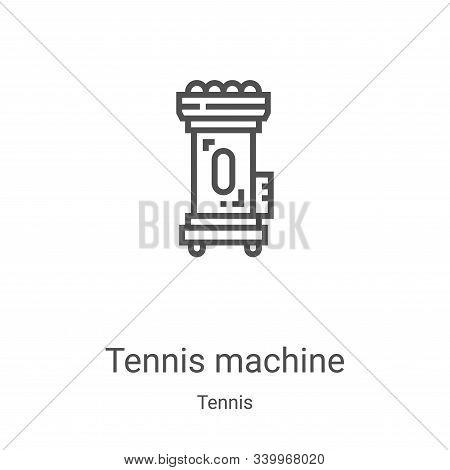tennis machine icon isolated on white background from tennis collection. tennis machine icon trendy