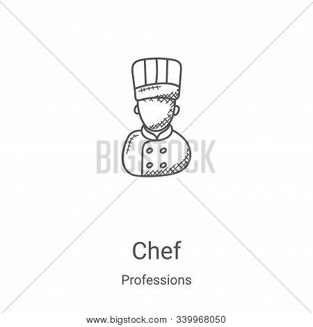 chef icon isolated on white background from professions collection. chef icon trendy and modern chef