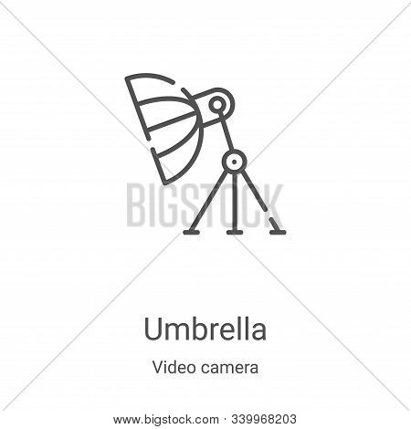 umbrella icon isolated on white background from video camera collection. umbrella icon trendy and mo