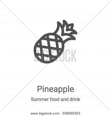 pineapple icon isolated on white background from summer food and drink collection. pineapple icon tr