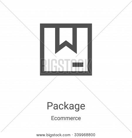 package icon isolated on white background from ecommerce collection. package icon trendy and modern