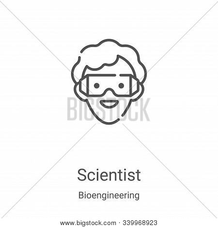 scientist icon isolated on white background from bioengineering collection. scientist icon trendy an
