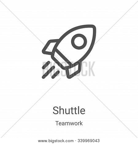 shuttle icon isolated on white background from teamwork collection. shuttle icon trendy and modern s