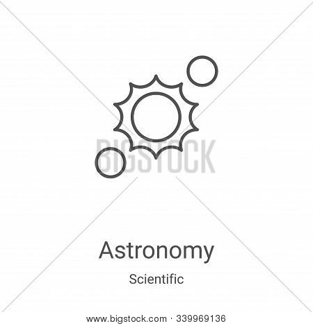 astronomy icon isolated on white background from scientific collection. astronomy icon trendy and mo