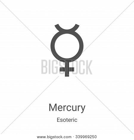 mercury icon isolated on white background from esoteric collection. mercury icon trendy and modern m