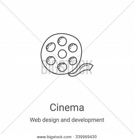 cinema icon isolated on white background from web design and development collection. cinema icon tre