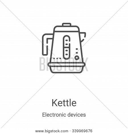 kettle icon isolated on white background from electronic devices collection. kettle icon trendy and