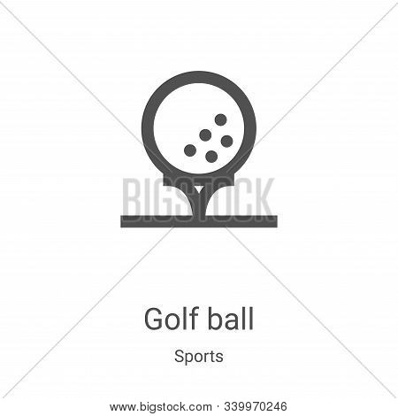 golf ball icon isolated on white background from sports collection. golf ball icon trendy and modern