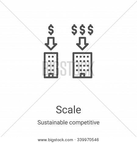 scale icon isolated on white background from sustainable competitive advantage collection. scale ico
