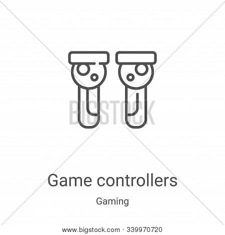 game controllers icon isolated on white background from gaming collection. game controllers icon tre