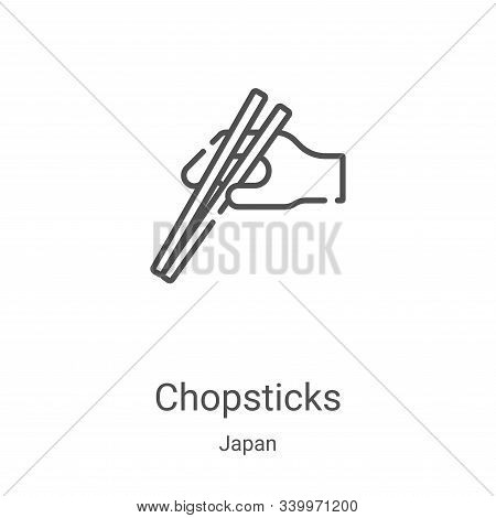 chopsticks icon isolated on white background from japan collection. chopsticks icon trendy and moder
