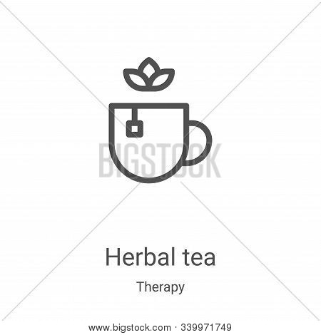 herbal tea icon isolated on white background from therapy collection. herbal tea icon trendy and mod