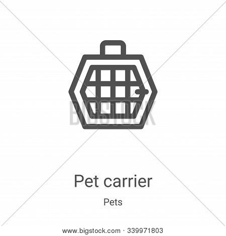 pet carrier icon isolated on white background from pets collection. pet carrier icon trendy and mode