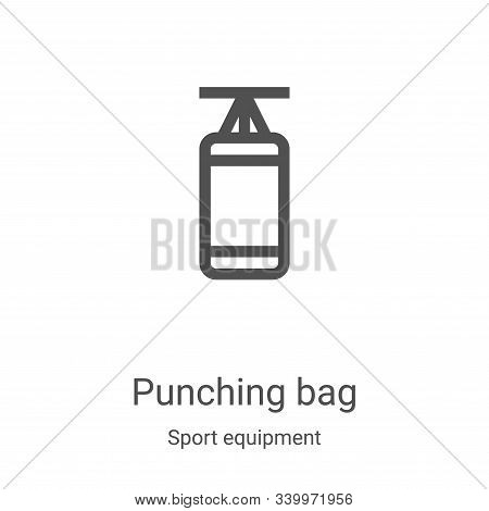 punching bag icon isolated on white background from sport equipment collection. punching bag icon tr