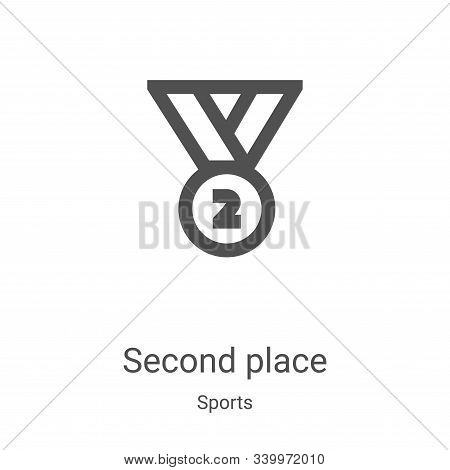 second place icon isolated on white background from sports collection. second place icon trendy and