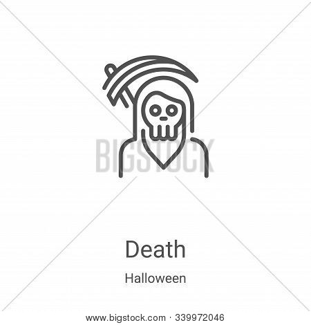death icon isolated on white background from halloween collection. death icon trendy and modern deat