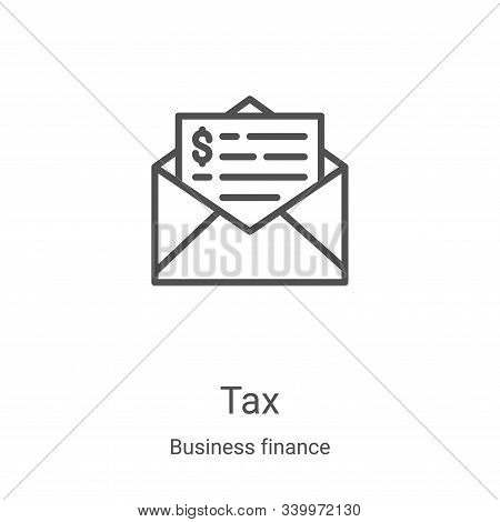 tax icon isolated on white background from business finance collection. tax icon trendy and modern t