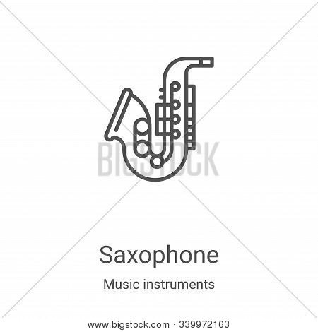 saxophone icon isolated on white background from music instruments collection. saxophone icon trendy