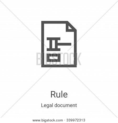 rule icon isolated on white background from legal document collection. rule icon trendy and modern r