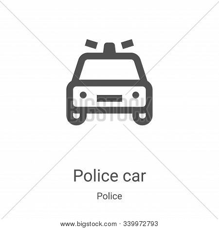 police car icon isolated on white background from police collection. police car icon trendy and mode