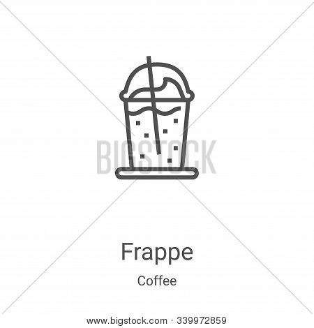 frappe icon isolated on white background from coffee collection. frappe icon trendy and modern frapp