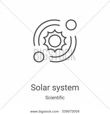solar system icon isolated on white background from scientific collection. solar system icon trendy