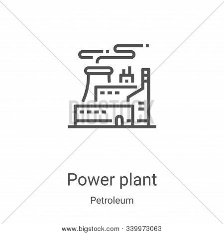 power plant icon isolated on white background from petroleum collection. power plant icon trendy and
