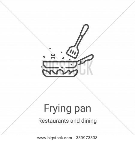 frying pan icon isolated on white background from restaurants and dining collection. frying pan icon