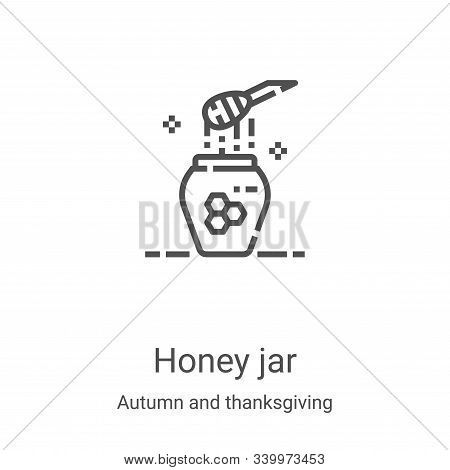 honey jar icon isolated on white background from autumn and thanksgiving collection. honey jar icon