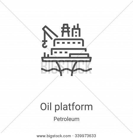 oil platform icon isolated on white background from petroleum collection. oil platform icon trendy a