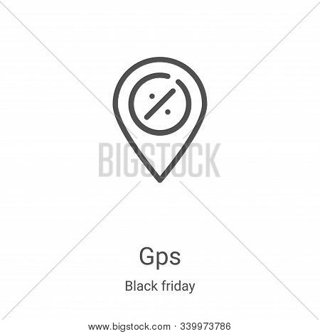 gps icon isolated on white background from black friday collection. gps icon trendy and modern gps s