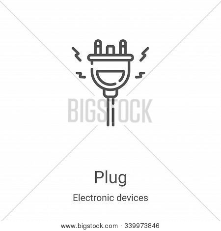 plug icon isolated on white background from electronic devices collection. plug icon trendy and mode