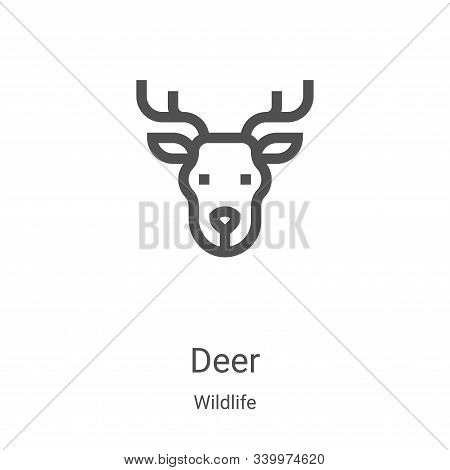 deer icon isolated on white background from wildlife collection. deer icon trendy and modern deer sy