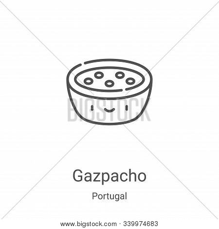gazpacho icon isolated on white background from portugal collection. gazpacho icon trendy and modern