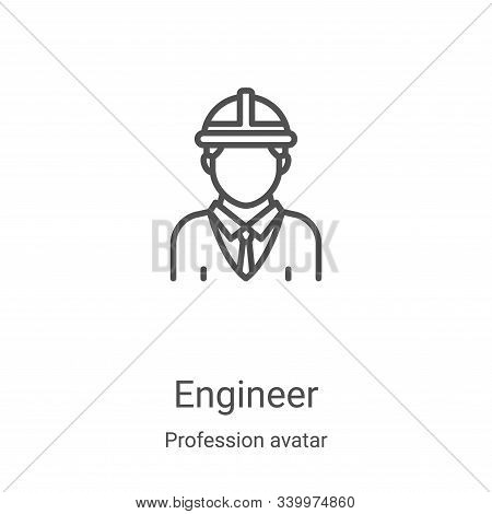 engineer icon isolated on white background from profession avatar collection. engineer icon trendy a