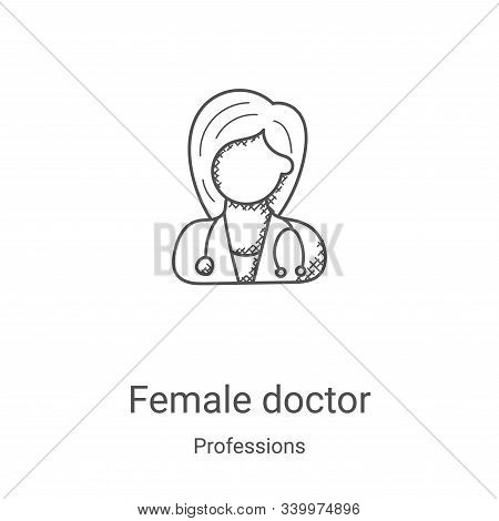 female doctor icon isolated on white background from professions collection. female doctor icon tren