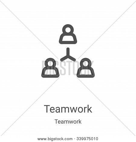 teamwork icon isolated on white background from teamwork collection. teamwork icon trendy and modern