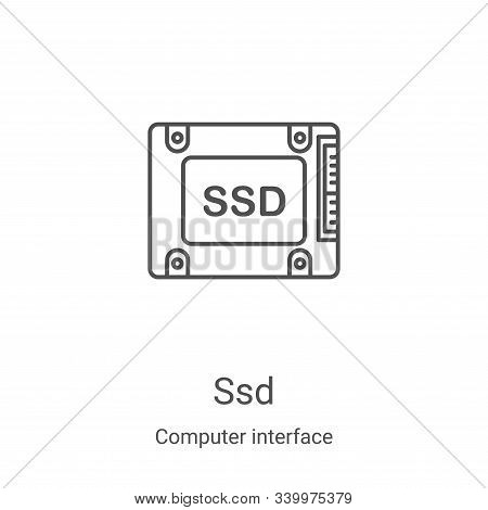 ssd icon isolated on white background from computer interface collection. ssd icon trendy and modern
