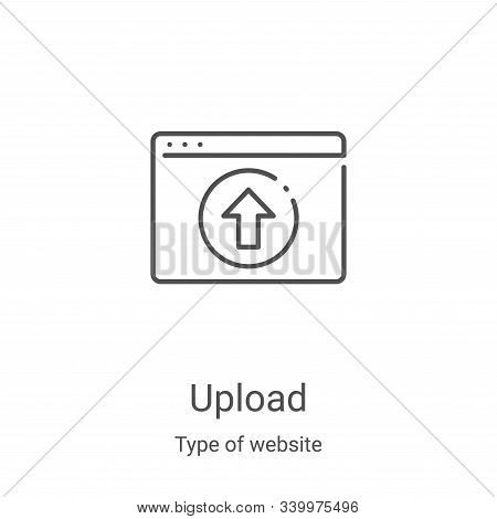 upload icon isolated on white background from type of website collection. upload icon trendy and mod