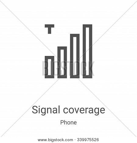 signal coverage icon isolated on white background from phone collection. signal coverage icon trendy