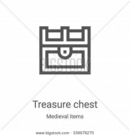 treasure chest icon isolated on white background from medieval items collection. treasure chest icon