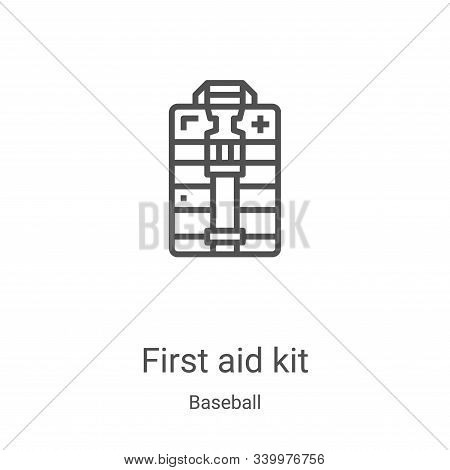 first aid kit icon isolated on white background from baseball collection. first aid kit icon trendy