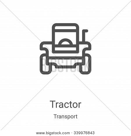 tractor icon isolated on white background from transport collection. tractor icon trendy and modern