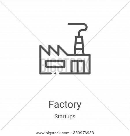 factory icon isolated on white background from startups collection. factory icon trendy and modern f