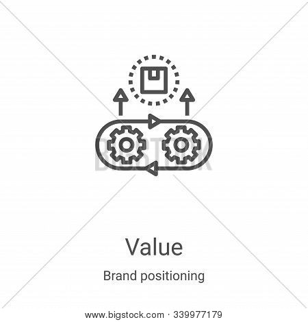 value icon isolated on white background from brand positioning collection. value icon trendy and mod