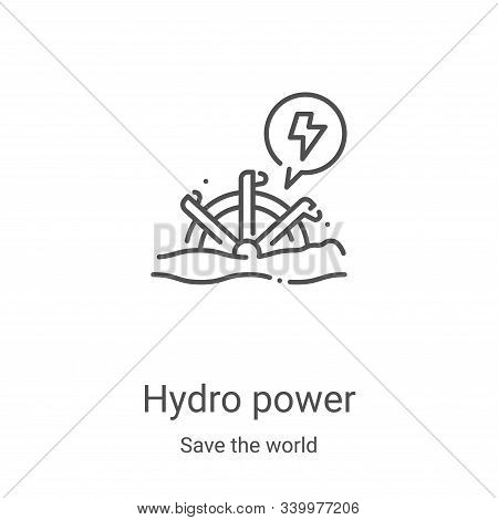 hydro power icon isolated on white background from save the world collection. hydro power icon trend