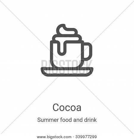 cocoa icon isolated on white background from summer food and drink collection. cocoa icon trendy and