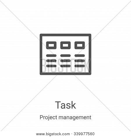 task icon isolated on white background from project management collection. task icon trendy and mode